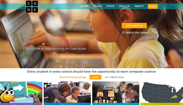 code.org | The 10 Best Educational Websites For Kids