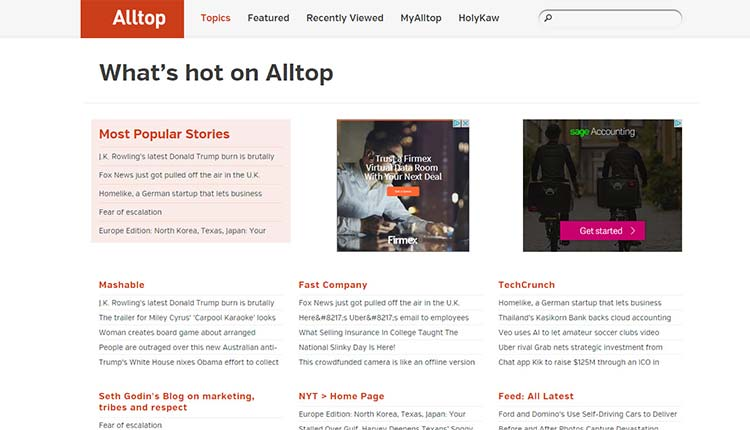 alltop | 9 Resources Which Help Every Marketer To Find Ideas For Shareable Content